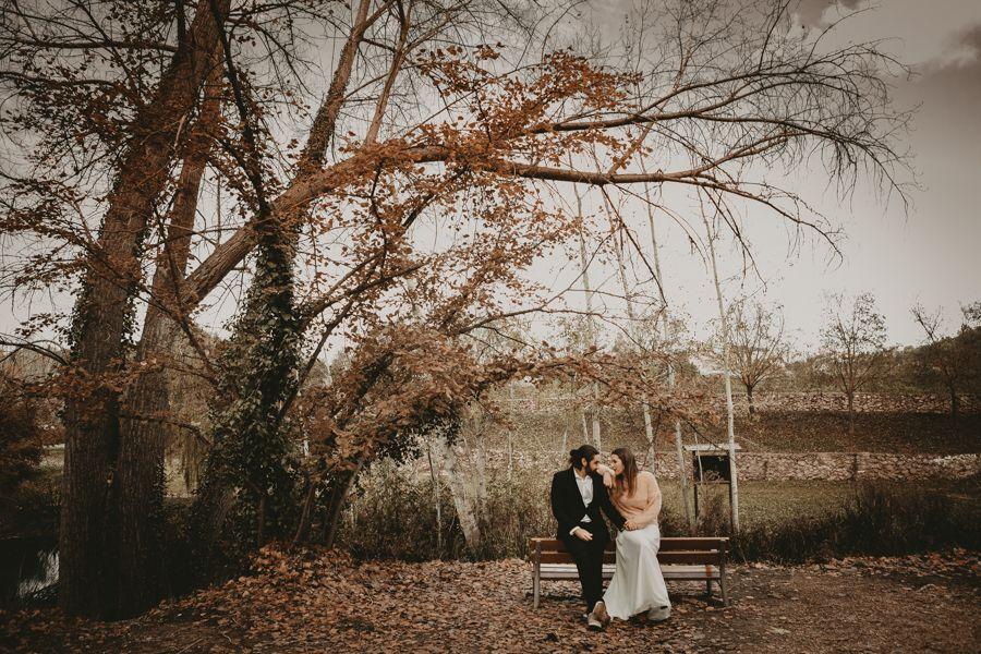 fotos de pareja en otoño