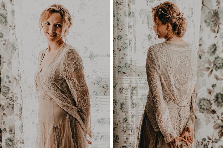 Vestido de novia Vintage Boho Chic