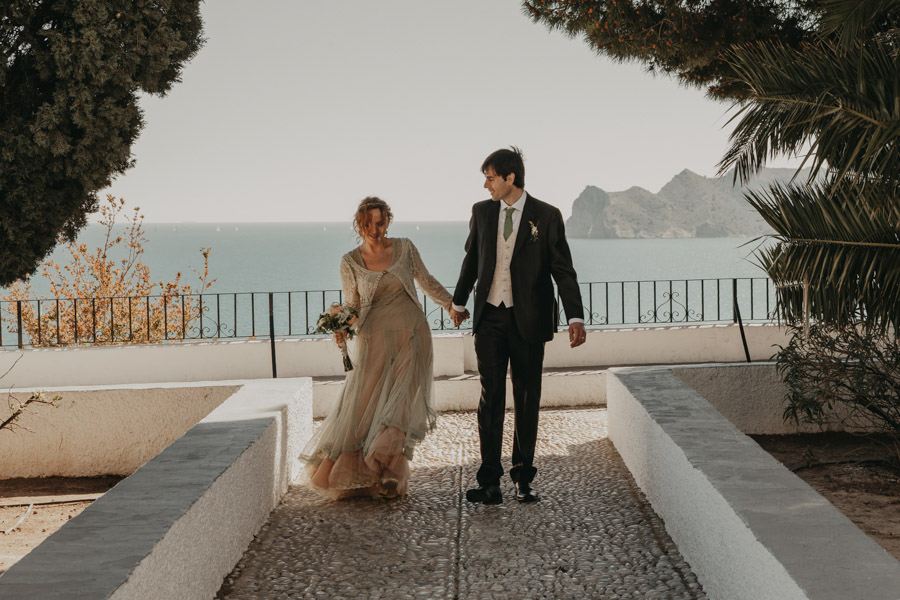 fotos de boda en el casco antiguo Altea