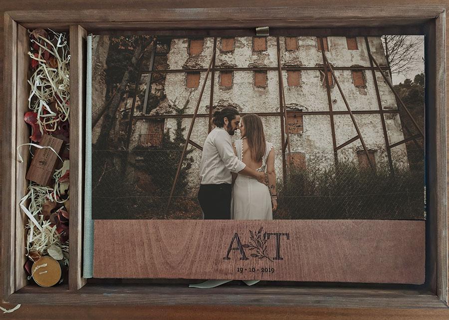 Packaging de reportajes de boda naturales