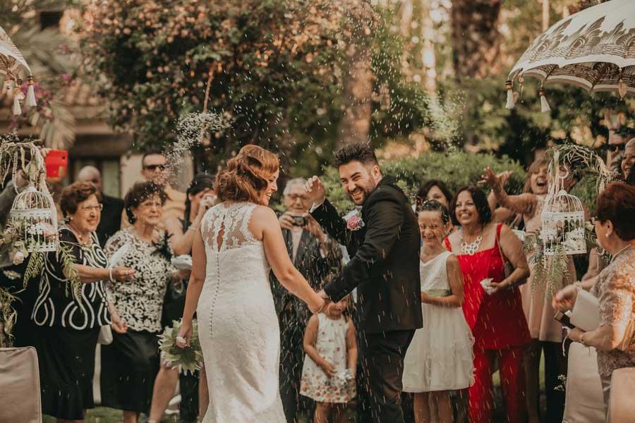 ceremonia de boda en el hotel huerto del cura