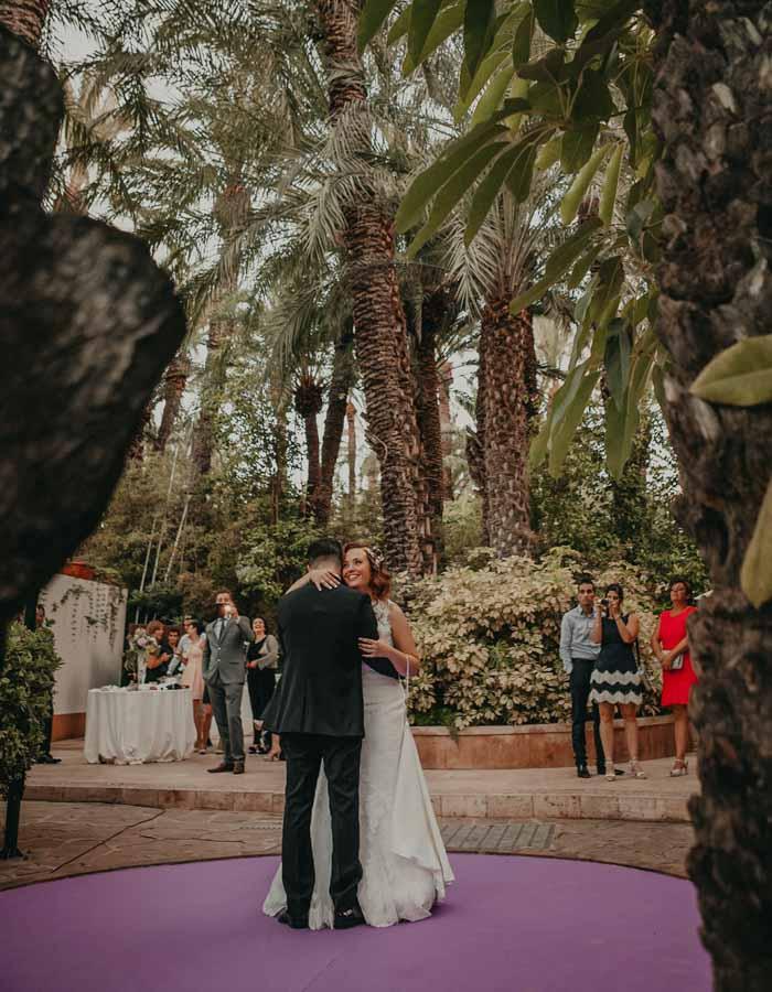 baile de novios en la boda del hotel huerto del cura